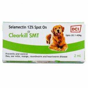 Clearkill SMT Prevents and controls flea, ear mite, mange, roundworm and heart worm disease
