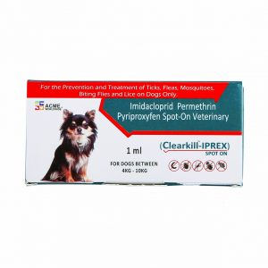 Clearkill- Iprex is a veterinary medicine for dogs to treat fleas and ticks