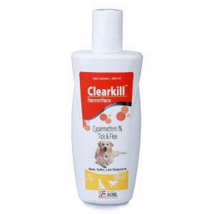 Clearkill an animal health care product to prevent tick and flea