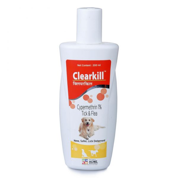 Clearkill an animal health care product to prevent tick and flea-Best Anti Flea & Tick Dog Shampoo By Disinfecto