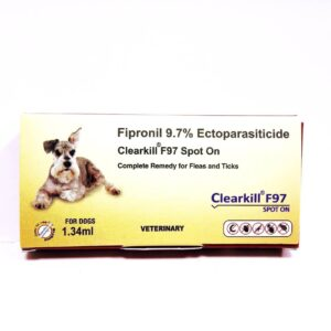 Clearkill F97 Spot On Dog Flea And Tick Remover, 1.34 ml